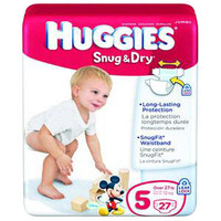 HUGGIES Snug and Dry Diapers, Step 5, Big Pack  6940703-Case