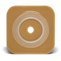 """Sur-Fit Natura Stomahesive Cut-to-Fit Wafer 4"""" x 4"""", 1"""" to 1/2"""" Flange  51401574-Box"""