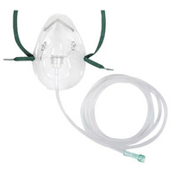 AirLife Adult Vinyl Oxygen Mask, 7'  55001201-Each