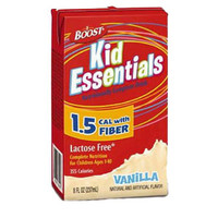 Boost Kid Essentials 1.5 Nutrition Vanilla Flavor with Fiber 8 oz.  85335000-Case