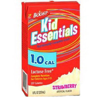 Boost Kid Essentials 1.0 Nutrition Strawberry Flavor 8 oz. Brik Pak  85335300-Case