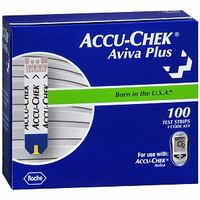 ACCU-CHEK Aviva Plus Test Strip (100 count)  5906908268001-Box