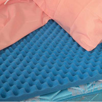 Convoluted (Eggcrate) Bed Pad, Queen, 56 X 78 X 2  6455279480052-Each