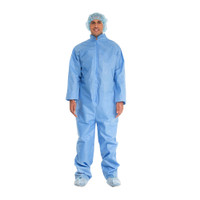 Blue Coveralls With Open Cuffs and Ankles, Universal  551200CV-Case