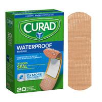 "Curad Waterproof Plastic Adhesive Bandage, 3-1/4"" x 1""  60CUR43021RB-Each"