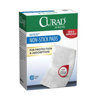 "Curad Non-Stick Adhesive Pad, 2"" x 3""  60CUR47147RB-Box"