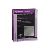 "Puracol Plus AG Collagen Dressing 2"" x 2""  60MSC8722EP-Each"