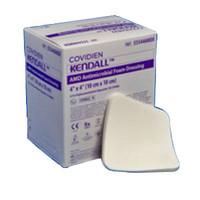 """AMD Antimicrobial Polyurethane Foam Dressing 4"""" x 4""""  6855544AMD-Box"""