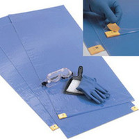 "ChemoPlus Adhesive Contamination Control Floor Mat 18"" x 46"", Blue  68CT0071-Case"