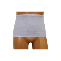 Men's Wrap/Brief with Open Crotch and Built-in Ostomy Barrier/Support Gray, Center Stoma, Medium 36-38  8093206MC-Each