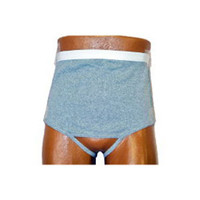 Men's Wrap/Brief with Open Crotch and Built-in Ostomy Barrier/Support Gray, Left-Side Stoma, Medium 36-38  8093206ML-Each