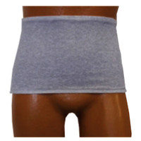 Men's Wrap/Brief with Open Crotch and Built-in Ostomy Barrier/Support Gray, Center Stoma, X-Large  8093206XLC-Each