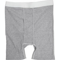 OPTIONS Men's Boxer Brief with Built-In Barrier/Support, Gray, Right-Side Stoma, XX-Large 48-50  8094006XXLR-Each