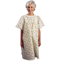 LadyLace Patient Gown with Short Sleeves, One Size, Garden Print  84535LPG-Each