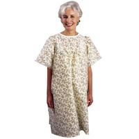 LadyLace Patient Gown with Short Sleeves, One Size, Pink Rosebud  84535LPP-Each