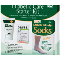 Diabetic Foot Care Starter Kit with Cream, Soap, Size 10 - 13 Socks  84DSKT1013-Each