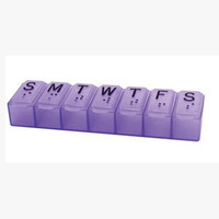 7 Day Pill Organizer, Assorted Colors  AP70010L-Each