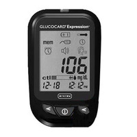 Glucocard Expression Blood Glucose Meter, Black