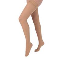 Health Support Vascular Hosiery 2030 mmHg, Full Length Thigh, Closed Toe, Sheer, Beige, Regular Size C