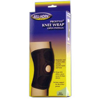 BellHorn ProStyle Closed Patella Knee Wrap, Universal Up to 21'' Knee Size, Black