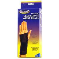 "BellHorn Elastic Stabilizing Left Wrist Brace, Large, 71/2""  81/2"" Wrist Circumference, Black"