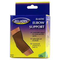 "BellHorn Elastic Elbow Support, Medium 9""  10"", Beige"