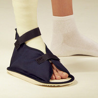 Cast Shoe Navy Canvas, Rocker, Open, Large