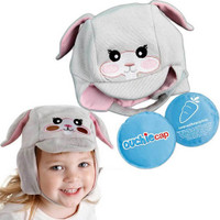 Cool Gel N Cap Kids Ice and Heat Packs with First Aid Cap, Tulip The Bunny