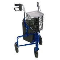 3 Wheel Aluminum Rollator, Blue