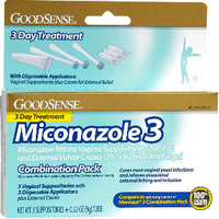 Miconazole 3 Combination Pack, Suppositories with Applicators and Cream