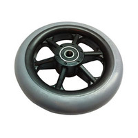 "Composite Caster Wheel Tire, 8"" x 11/4"" Wheel, Urethane"