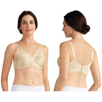 Amoena Ava WireFree Bra, Soft Cup, Size 38DD, Pearl Beige Ref# 5211538DDPB