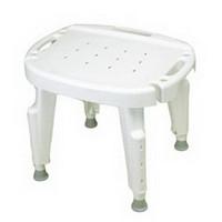 Bath Safe Adjustable Shower Seat, No Arms, No Back