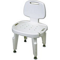 Bath Safe Adj Shower Seat w/Back