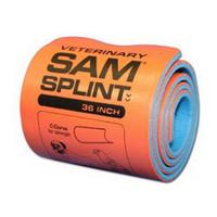 """Sam Splint, 4 1/2"""" X 36"""", Orange/Blue, Latex Free"""