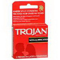 Trojan NonLubricated Condoms, 3/Box