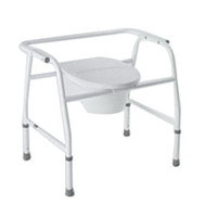 Extra Wide Bedside Steel Commode,400Lb Capacity