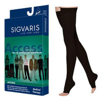 Access ThighHigh with GripTop, 2030, Large, Long, Open, Black
