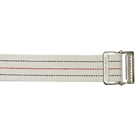 Cotton Gait Belt, Standard Webbing, Metal Buckle, Pinstripe