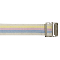 Cotton Gait Belt, HeavyDuty Webbing, Metal Buckle, Pastel Stripes