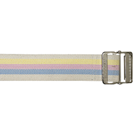"Cotton Bariatric Gait Belt, 72"", Pastel Stripes"