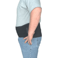 Leader XTended Back/Abdominal Support, Black, Universal