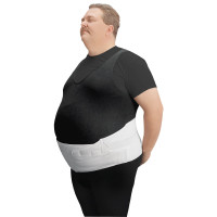Leader Bariatric Back/Abdominal Support, White, +1