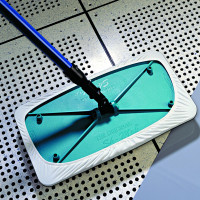 "AlphaMop Cleanroom Mop with 60"" Fiberglass Handle and Single Head Assembly"
