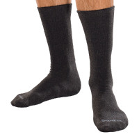 SmartKnit Seamless Diabetic Crew Socks with XSTATIC LatexFree Materials, Black, Large
