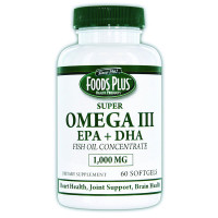Omega III EPA Fish Oil 1000 mg (60 Count)