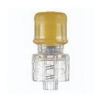 """NonNeedlefree Intermittent Injection Cap 19/8"""", 1/5 mL Priming Volume, Clear"""