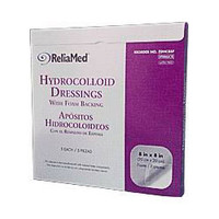 "ReliaMed Sterile LatexFree Hydrocolloid Dressing with Foam Back 8"" x 8"""