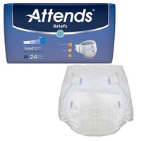 """Attends Adult Extra Absorbent Breathable Brief Small 25"""" - 34""""  48BRBX15-Pack(age)"""