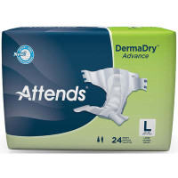 "Attends DermaDry Advance Briefs Large 44"" - 58""  48DDA30-Pack(age)"